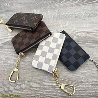 LV Louis Vuitton Lovely Key Pouch Clutch Bag Coin Purse Small Wallet