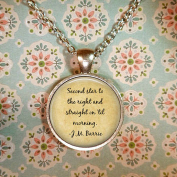 Peter Pan Necklace, Once Upon a Time, Fairy Tales, Neverland, Tinkerbell T1208