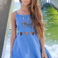 Miami Heat Blue Cutout Dress