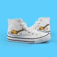 High upper shoes gudetama canvas personality lovers shoes round toe woman shoes pumps unisex lovely ladies shoes