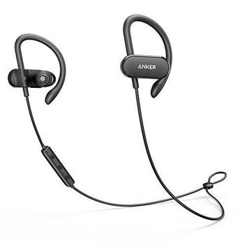 Anker Soundbuds Curve Wireless Waterproof Built-In Microphone In Ear Lightweight Sports aptX Bluetooth Headphones (Black)