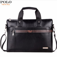 Men's Leather Business Briefcase Bag