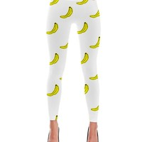 Banana Cartoon Pattern Print Leggings