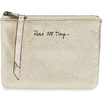 Rebecca Minkoff Betty Rosé All Day Leather Zip Pouch | Nordstrom