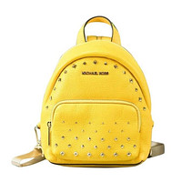Erin Small Studded Leather Convertible Backpack Bag (Citrus)