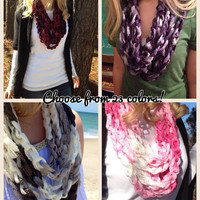 Choose a Sashay Boutique Infinity Chain Scarf, Choose from 23 Colors