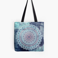 'BLUE AUTUMN MANDALA' Bolsa de tela by nikamartinez