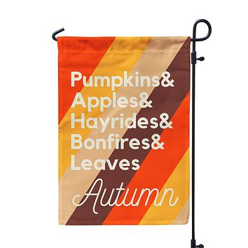 Fall Favorites Garden Flag