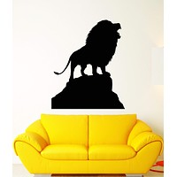 Vinyl Wall Decal African Lion King Animal Silhouette Predator Stickers Unique Gift (1536ig)