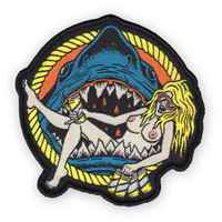 SHARK BABE Iron-On Patch