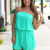 Ups and Downs Romper - Jade