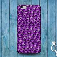 iPhone 4 4s 5 5s 5c 6 6s plus iPod Touch 4th 5th 6th Generation Custom Phone Case Funny Cool Purple Devil Smiley Face Cute Cover Custom Fun