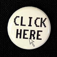 Click Here Button Pin by theangryrobot