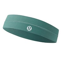 Lululemon Yoga Sports Hairband Outdoor Leisure Mountaineering Hairband Green