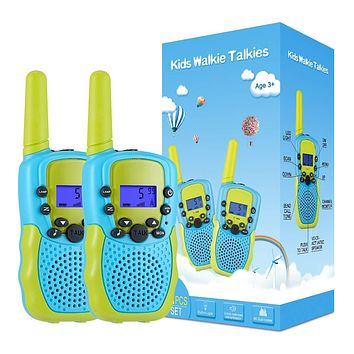 Selieve Toys for 3-12 Year Old Boys, Walkie Talkies for Kids 22 Channels 2 Way Radio Toy with Backlit LCD Flashlight, 3 Miles Range for Outside, Camping, Hiking Blue