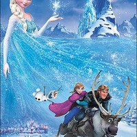 "Disney Frozen Elsa Sven Anna Olaf Poster Picture Art Print 22""x34"" LICENSED NEW"