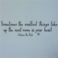 Sometimes the smallest things take up the most room in your heart 12x43-Wall Art-Sticker Decals-Wall Sticker-Wall Decals-Wall Decor-Wall Decoration-Wall Quotes