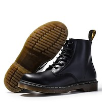 Men Shoes Fashion Genuine Leather Ankle Martin Boots for Women Casual Dr Motorcycle Shoes Warm Winter Men Boots Zapatos Mujer