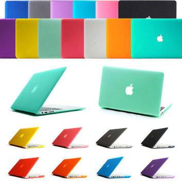 Free shipping Cool Frosted Surface Matte Case Shell For Macbook Pro 13 /15  Air 13 11 12 Pro Retina 13 /15 + screen protector