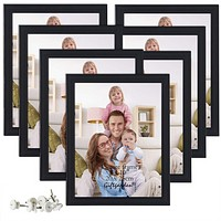 8x10 Picture Frame Multi Photo Frames Set Wall or Tabletop Display, Black, 7 Pack