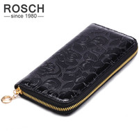 New 2016 Women Wallets PU Leather Clutch Wallet Women's Coin Purse Frolal Purse Ladies Clutch Money Phone Bag With Card Holder