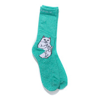 Lord Nermal Socks (Aqua Heather)