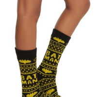 DC Comics Batman Fair Isle Knee-High Socks