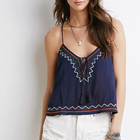 Embroidered Tassel Cami