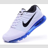 Tagre™ NIKE Trending Fashion Casual Sports Shoes AirMax section Blue black Hook blue soles