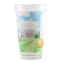 Kansas City Shuttlecock Pint Glass