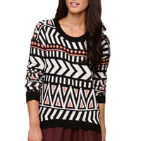 Roxy Jacquard Knit Pullover Sweater at PacSun.com