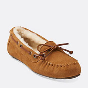 Cow Suede Moccasin Tan - Womens Slippers - Lounging Slippers for Home - Clarks® Shoes