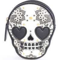 Love Sick Sugar Skull Coin Purse