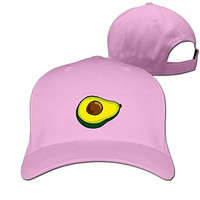 Yesher Particular Avocado Baseball Cap - Adjustable Hat - Pink