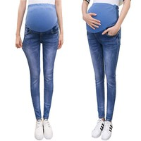 Denim Maternity Jeans For Pregnant Women Stretch Clothes Nursing Elastic Waist Pregnancy Pants Trousers Autumn Clothing