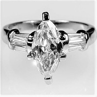 Laurain 2ct Marquise Solitaire Engagement Ring | 2.8ct