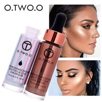 2017 New Contouring Liquid Highlighter Brand Cosmetic Waterproof Face Contour Shimmer Bronzers Highlighters o.two.o Makeup