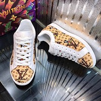 LV Fashion Men Women's Casual Running Sport Shoes Sneakers Slipper Sandals High Heels Shoes