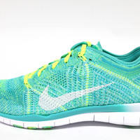 Nike Women's Free TR Flyknit Retro Green/White Running Shoes 718785 400