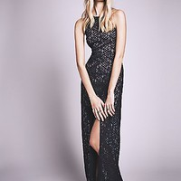 Free People Womens Simply Lace Column Dress