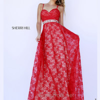 Spaghetti Straps Sweetheart Formal Prom Gown By Sherri Hill 5205