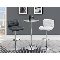 G120341 Glass Top Round Bar Table Set