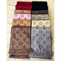 Louis Vuitton new texture texture winter warm scarf fashion men and women scarf