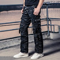 Men Cotton Camouflage Tactical Pants Trousers