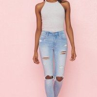 Power Move Retro High Waist Ankle Jegging