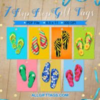 Flip Flop Gift Tags