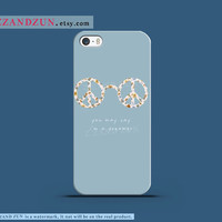 Beatles Peace Sign - Imagine Peace - iPhone 4 Case, iPhone 4s Case,iPhone 5s case, iPhone 5 case , i'm a dreamer