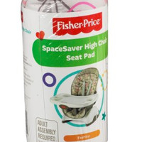 Fisher-Price SpaceSaver High Chair Seat Pad, Tulips