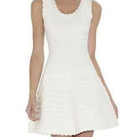 Celebrity Sexy White Blue bodycon bandage dress cocktail A-line sleeveless Party