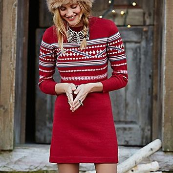 Free People Womens Hot Cocoa Patterned Dress